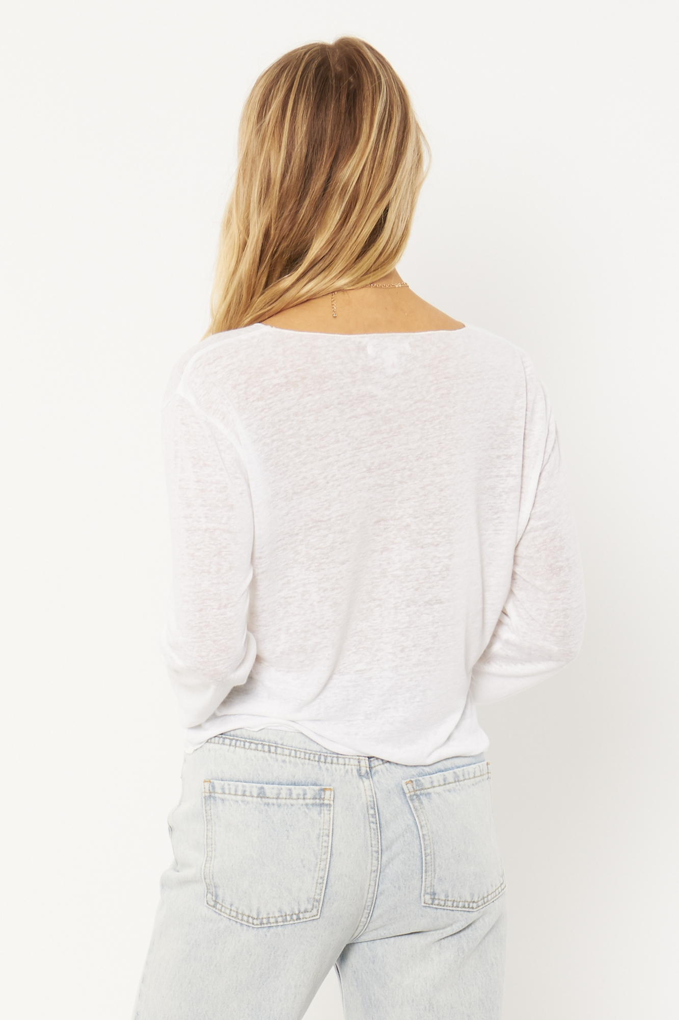 Pierce Long Sleeve Knit Tee