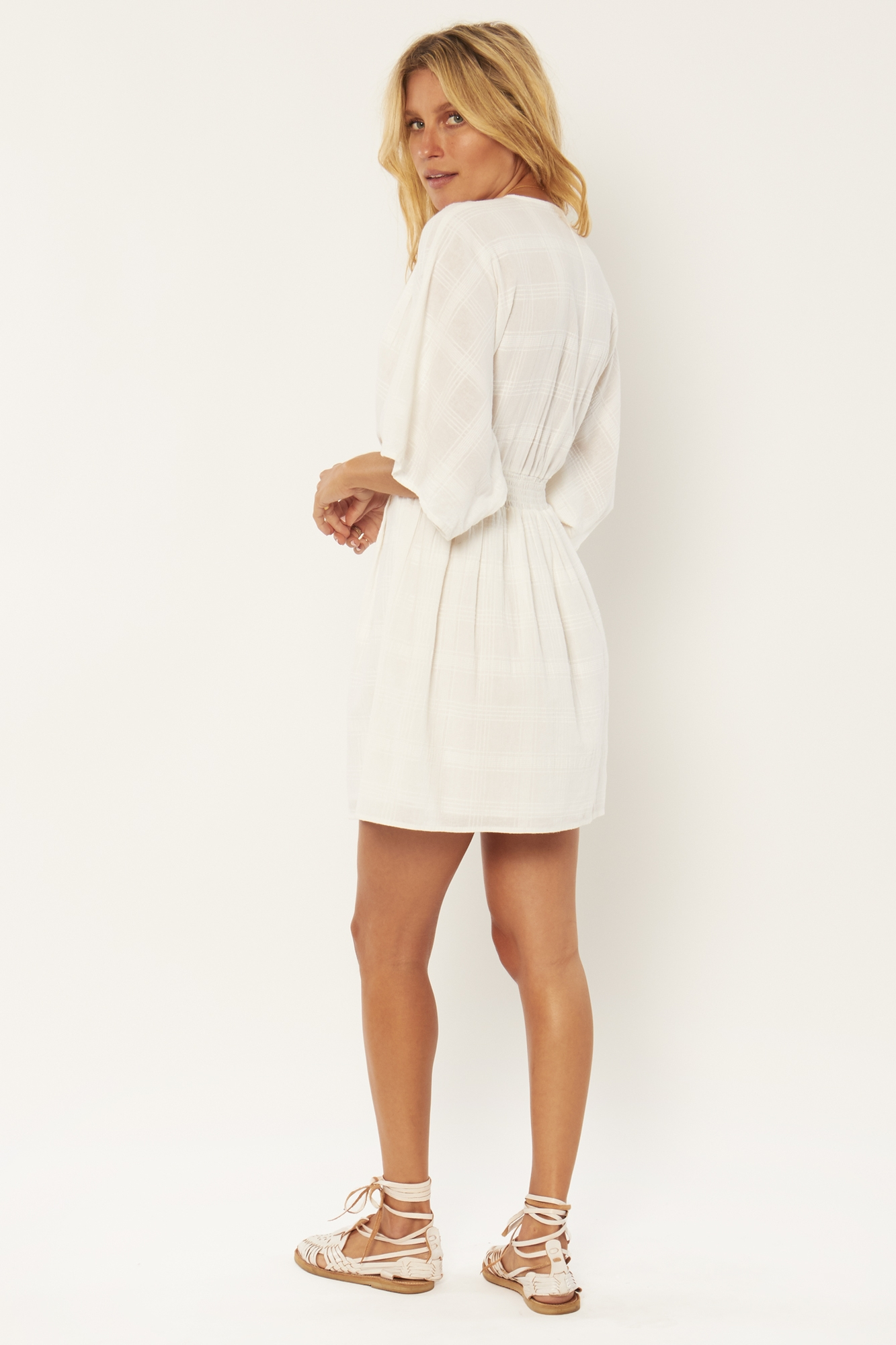 SANDALWOOD WOVEN MINI DRESS