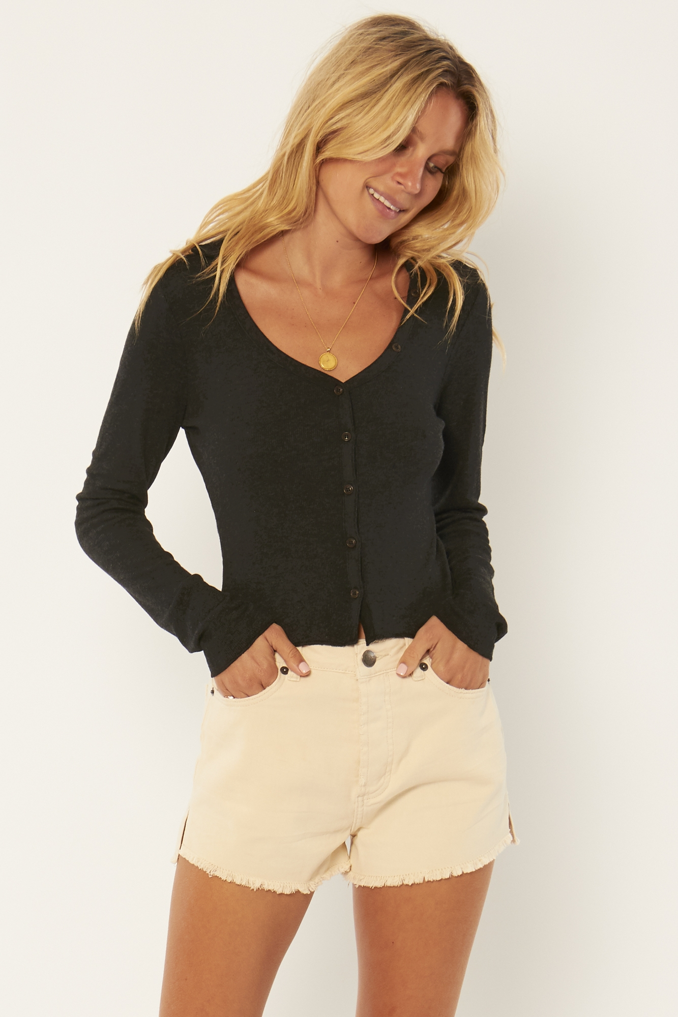 TAKE DOWN LONG SLEEVE KNIT TOP
